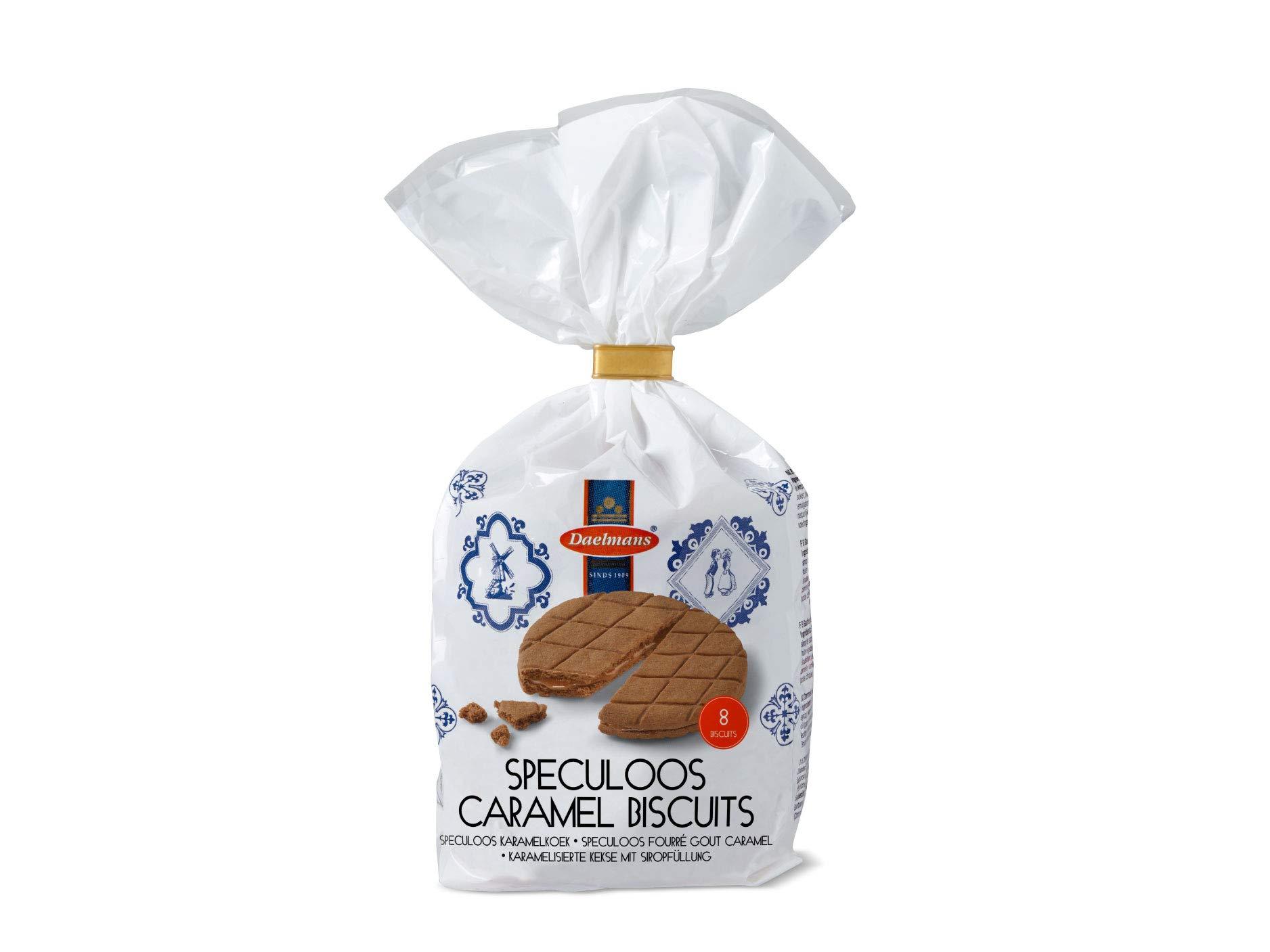 Daelmans Speculoos Caramel Biscuits in Clip Bag | 8 Biscuits per Bag