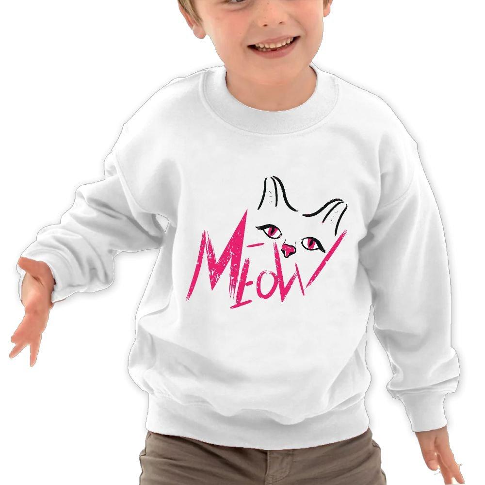 JasonMade Kids Meow Cat Kitten Line Fashion Crewneck Sweatershirts