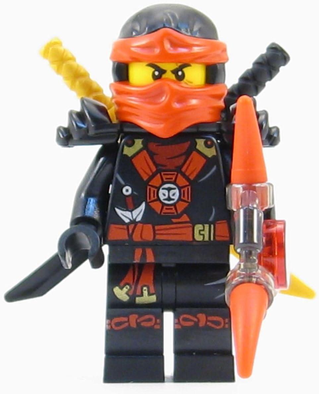 LEGO Ninjago Deepstone Kai Ninja Minifigure Red Aeroblade Swords NEW 2015