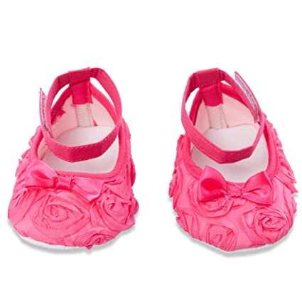a87ce214bdc SNOWIE SOFT Sweet Solid Color Gauze Flower Bowknot Soft Bottom Baby Girls  Shoes (Rose