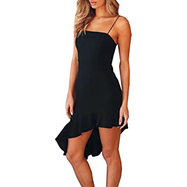 2018 Summer Sexy Backless Sleeveless Party Dresses Mermaid Bodycon Mini Dress Vestidos Dress,Black,