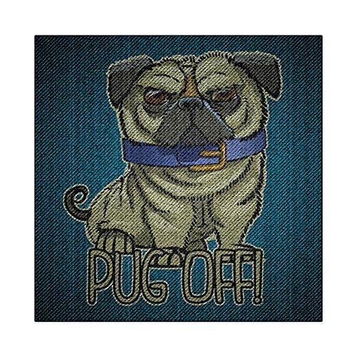 Pug Off Funny Denim Puppy Square Decal Sticker Multi Standard One - Denim Shirt Breed