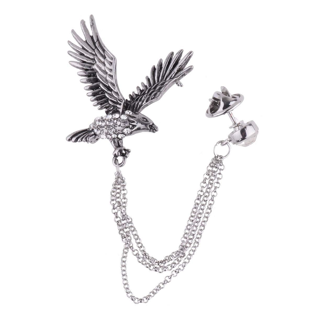 amazon tiaobug men s elegant eagle crystal chain lapel pin Star Trek Klingon Bird of Prey amazon tiaobug men s elegant eagle crystal chain lapel pin brooch for suit tuxedo clothing