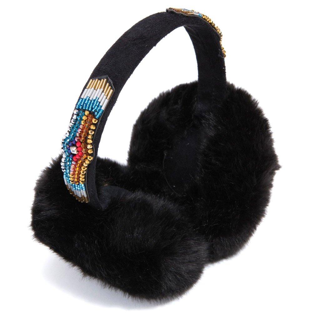HIPANEMA X AMENAPIH Russia Faux Fur Ear Muffs in Black