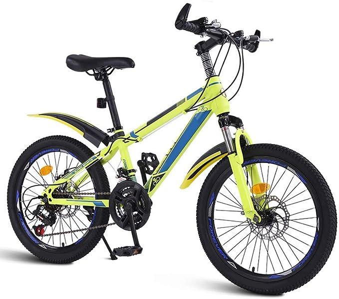 XMIMI Bicicleta de montaña Cambio de Bicicleta Estudiantes de Escuela Intermedia Niños y niñas Bicicleta Todoterreno Big Boy Racing 20 Pulgadas 21 Velocidad: Amazon.es: Deportes y aire libre