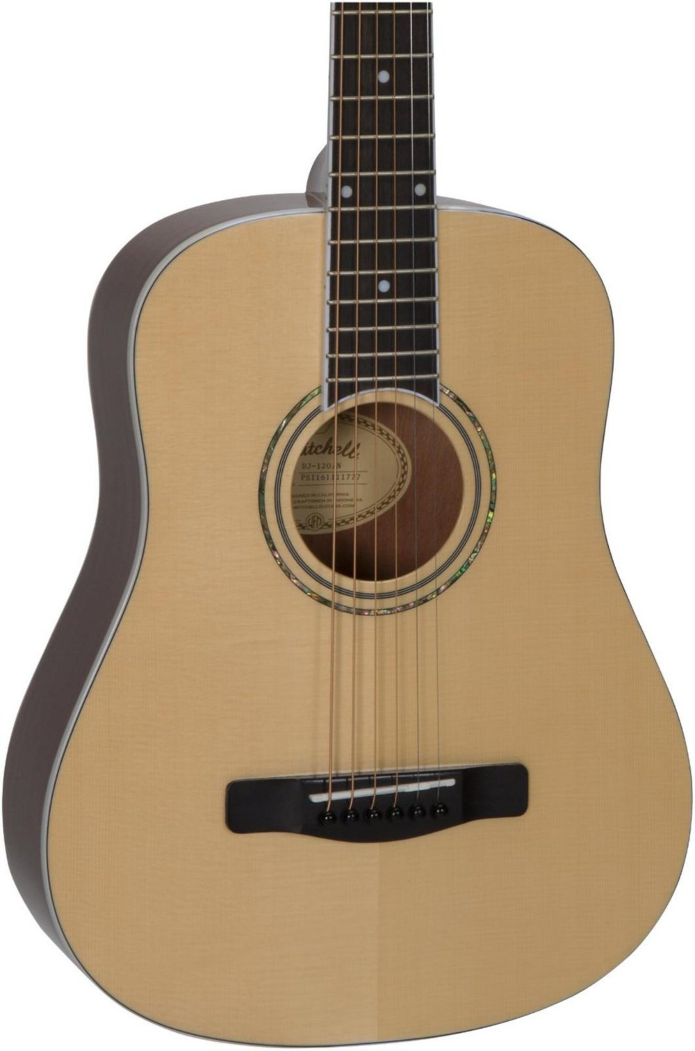 Mitchell DJ120 Travel Size Dreadnought Acoustic Guitar Natural by Mitchell