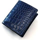 AIZOME-CR1004 クロコダイル財布「無双仕様」・ボックス小銭入れ付:藍染