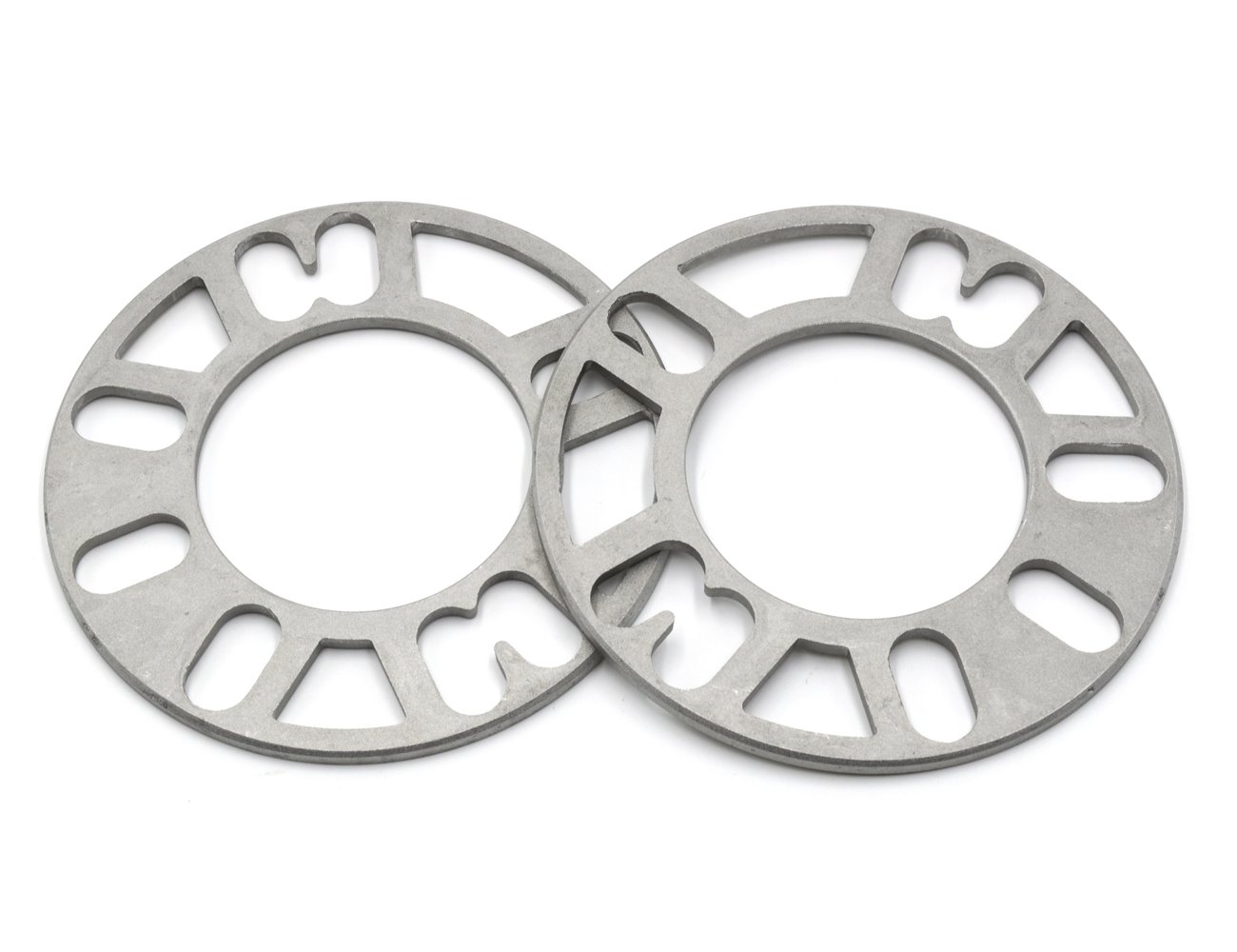 GoldenSunny Pack of 2, Aluminum Alloy 4 and 5 Lug 5mm Thickness Universal Wheel Spacers - Fit PCD 98-120 by GoldenSunny (Image #3)