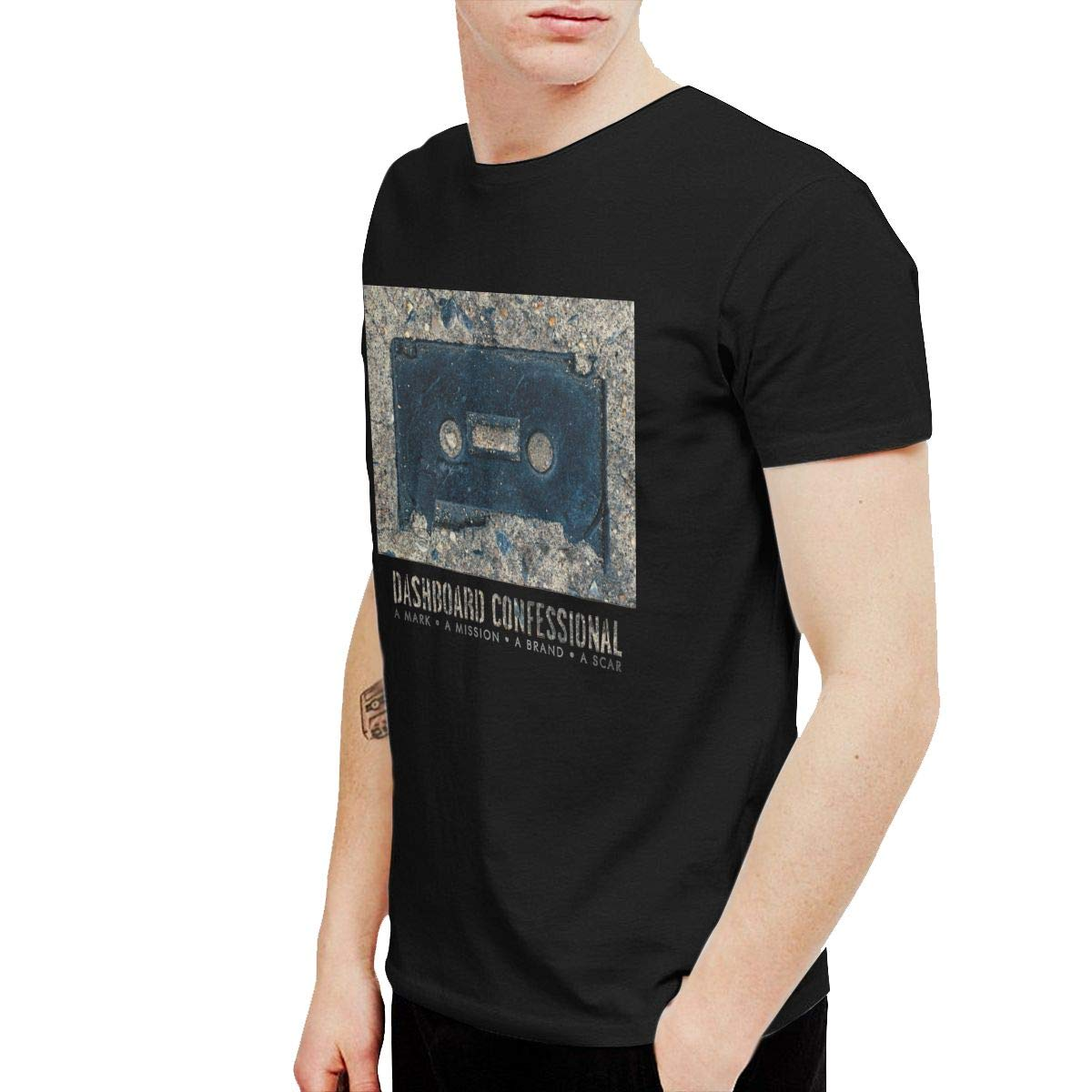 KaceO Mens Dashboard Confessional A Mark A Mission Tee Black