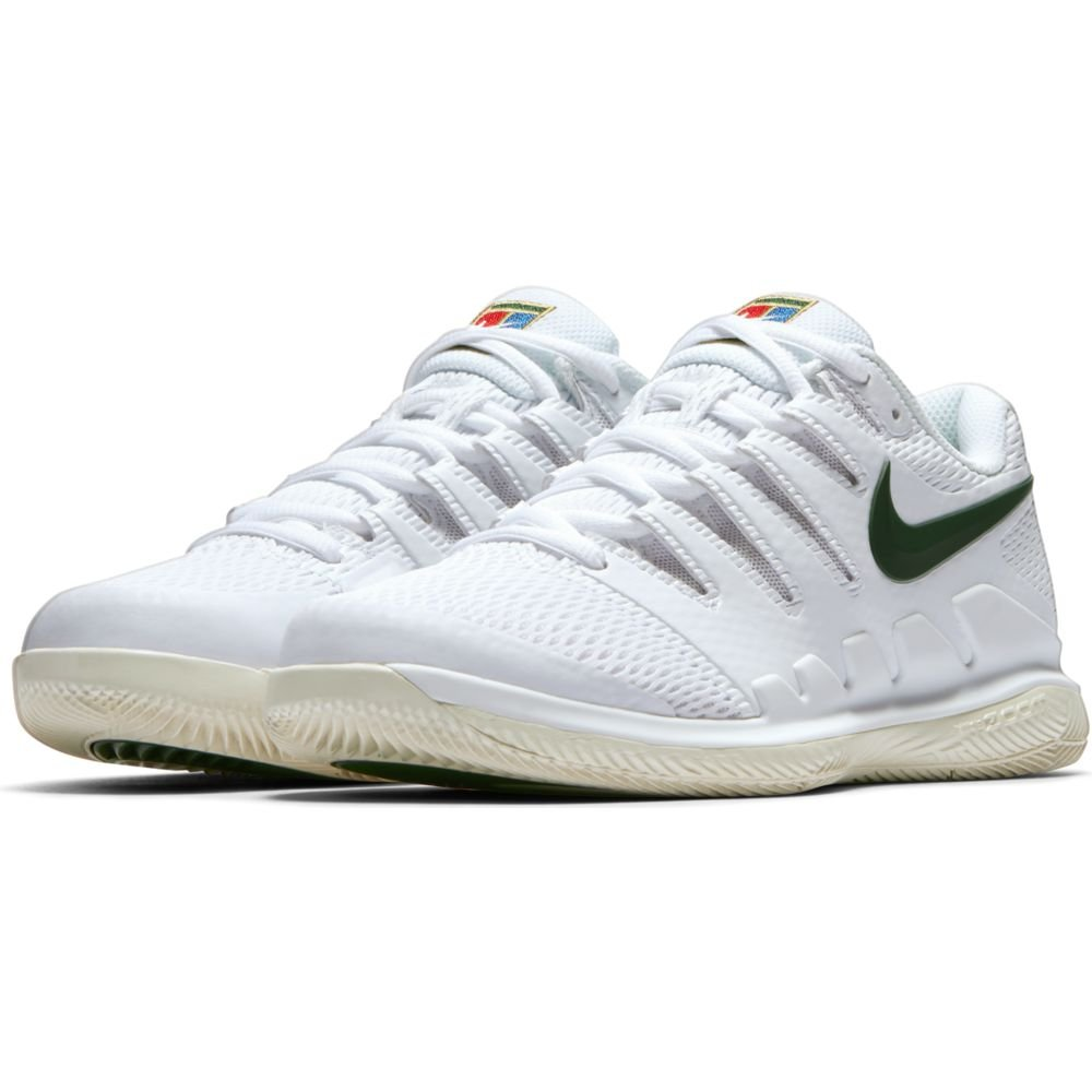 NIKE Women's Air Zoom Vapor X HC Tennis Shoes B07F1GPR3D 8 B(M) US|White/Light Cream/Metallic Gold/Gorge Green
