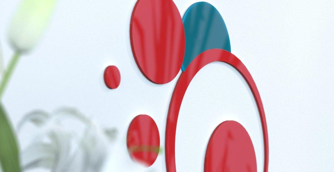Deko Wand-Wohnzimmer originelle Blaue Ente und grau silber rot   schwarz   grau foncÃeacute; rot   rot   Blau Canard
