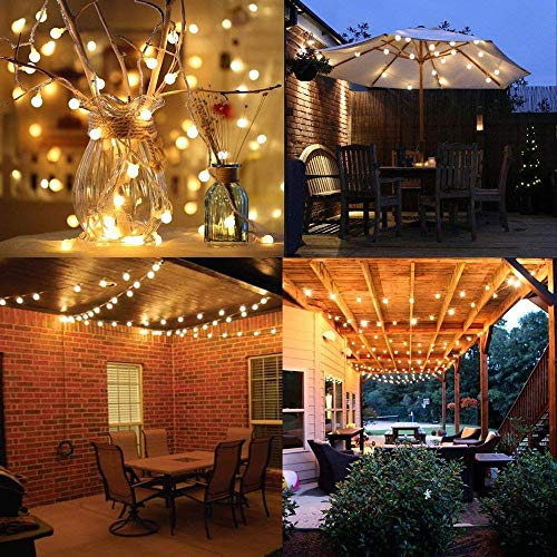 Battery Fairy Lights - Outdoor Fairy Lights [Remote & Timer] 33FT/10M 100Leds 8 Modes Waterproof Battery Powered Fairy Lights for Decorations Christmas