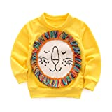 YOHA Baby Girls Autumn Soft Rainbow Top Blouse Long