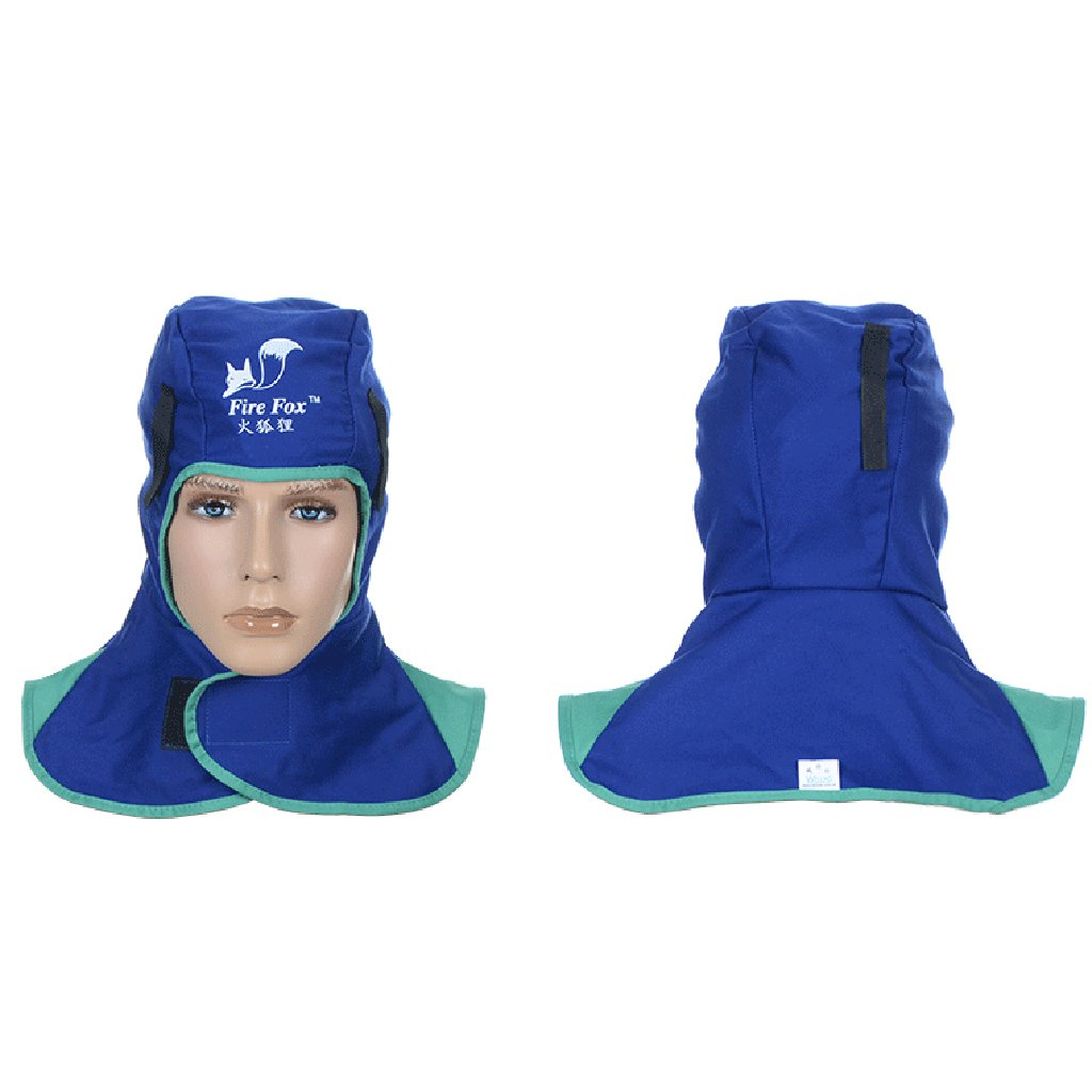 MagiDeal Flammwidrige Safey Helm Schwei/ßen Nacken schutz Schwei/ßkopf Kopfbedeckung Blau