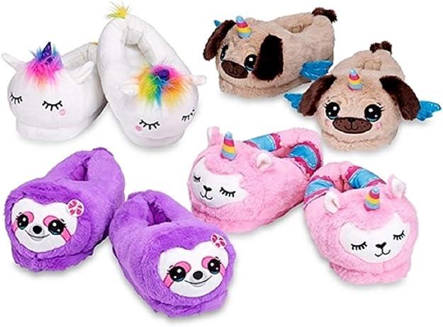 Kids Non-Slip Llamacorn Unicorn Llama Slippers Summer Beach Sandals for Boys Girls