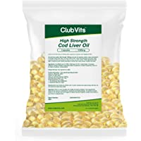 Club Vits 1000mg High Strength Cod Liver Oil, 365 Capsules