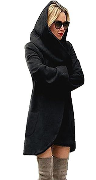 Amazon.com: CoCo fashion Women's 2017 Winter Long Hooded Coat ...