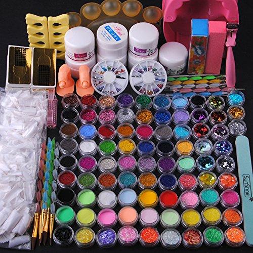 10 opinioni per Fashion gallery Kit di Unghie Arte Decorazioni Pailettes Buffer Lima Nail Art