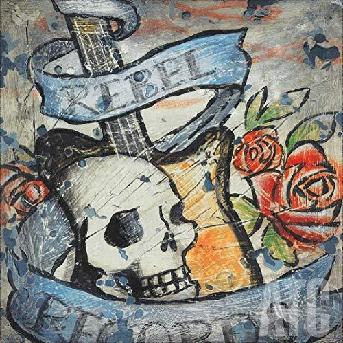 ArtToCanvas 24W x 24H inches : Rock N Roll 7 by Aaron Christensen - Canvas
