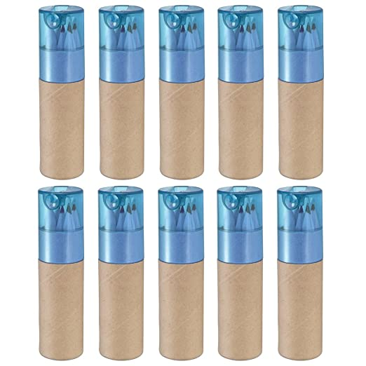 13 opinioni per 10 x matita colorazione tubi per Bomboniere & borsa riempitivi (coperchio blu)