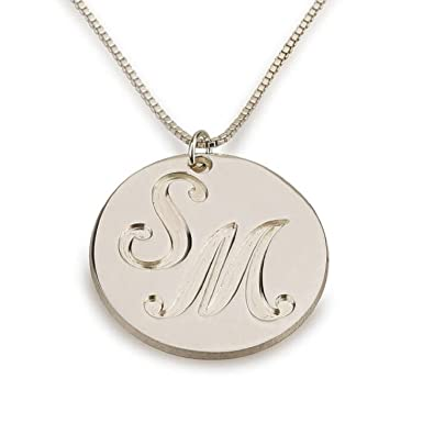 Amazon com: Personalized Custom Sterling Silver Medallion
