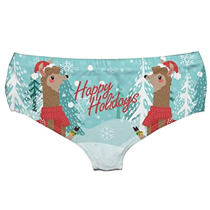b8ebfebc6 Image Unavailable. Image not available for. Color  Midress Christmas  Ornaments Ladies Hipsters Panties Christmas Themed Women Panties Christmas  Print ...