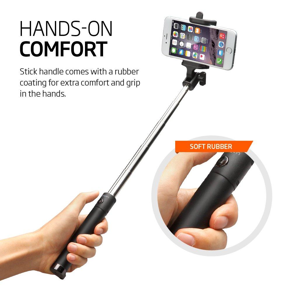 Spigen Velo S520 Selfie Stick New Generation Bluetooth Selfie Stick with Remote Shutter for iPhone X / 8/8 plus / 7/7 plus/Galaxy S9 S9 plus Note 8 / S8 / S8 Plus/Pixel 2 and More - Black by Spigen (Image #6)