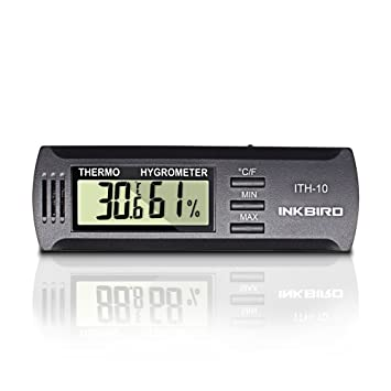 Inkbird Digital ITH 10 Hygrometer Temperature Humidity Monitor Thermometer  For Guitar Case, Cigar Case