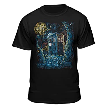b33a11828 Amazon.com: Doctor Who Starry Night Van Gogh Design Official T-Shirt ...