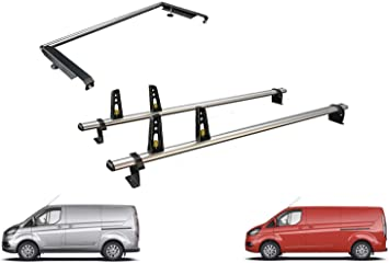 Van Guard Ulti Bar 2 Barras portaequipajes y Kit de Rodillo de Escalera Trasera para Ford Transit Custom: Amazon.es: Coche y moto