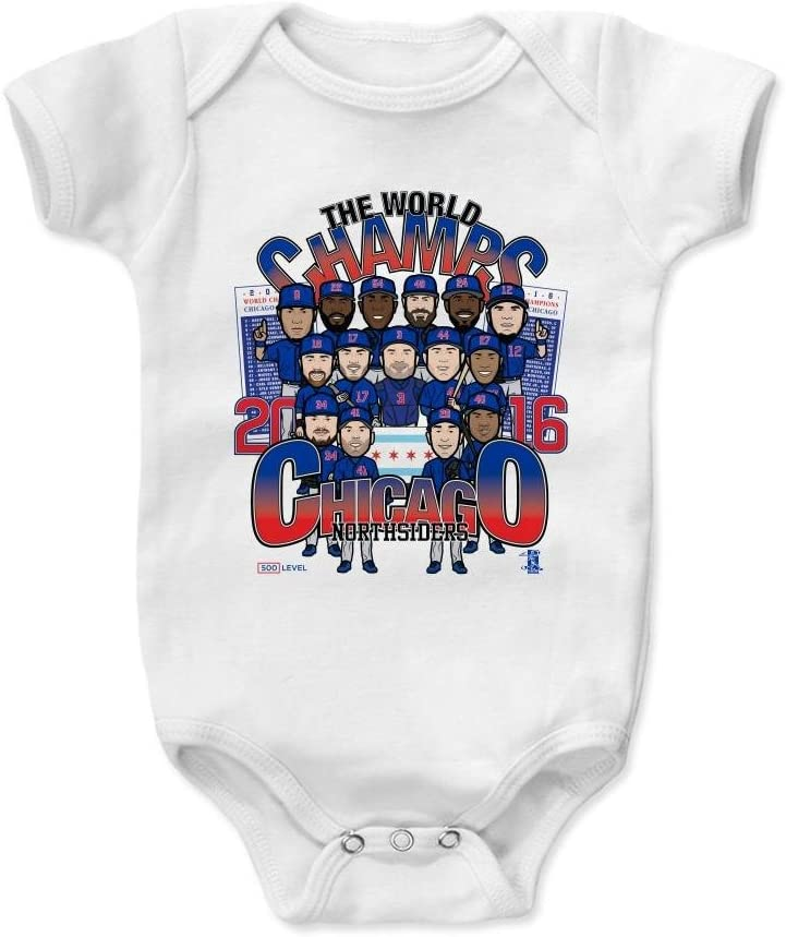 Chicago Baseball Baby Clothes 500 LEVEL Chicago Baby Onesie Chicago World Champs BR