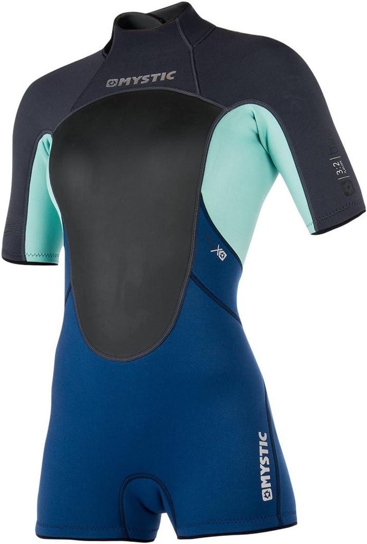 Flatlock-N/ähte Surf Kitesurf /& Windsurfing Womens Brand 3 Mystic Watersports 2MM Zur/ück Zip Shorty Neoprenanzug Neoprenanzug Schwarz