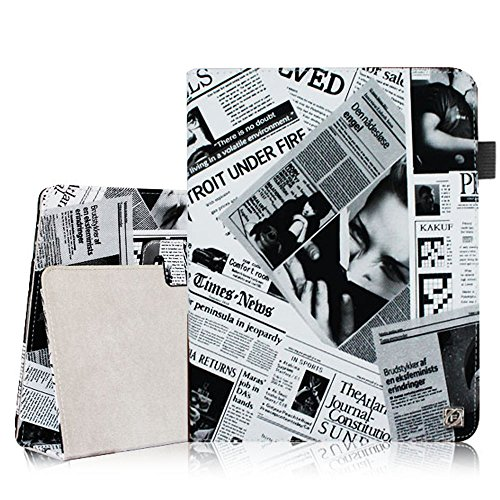 Fintie Foilo Case Cover for iPad 4th Generation With Retina Display, the new iPad 3 & iPad 2 (Automatic Wake/Sleep) - Newspaper