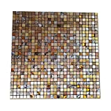 Metal 3D Mosaic Wall Sticker Aluminum Composite Panel Wallpaper 11.8'' x 11.8'' Thick Wall Tile Mural Home Shop Wall Decoration (Color F)