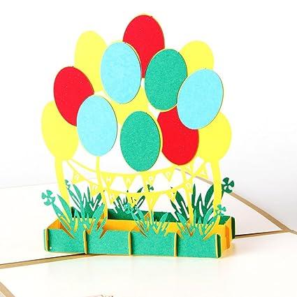 Amazon Heartmoon Balloon Pop Up Birthday Cards For Women Men