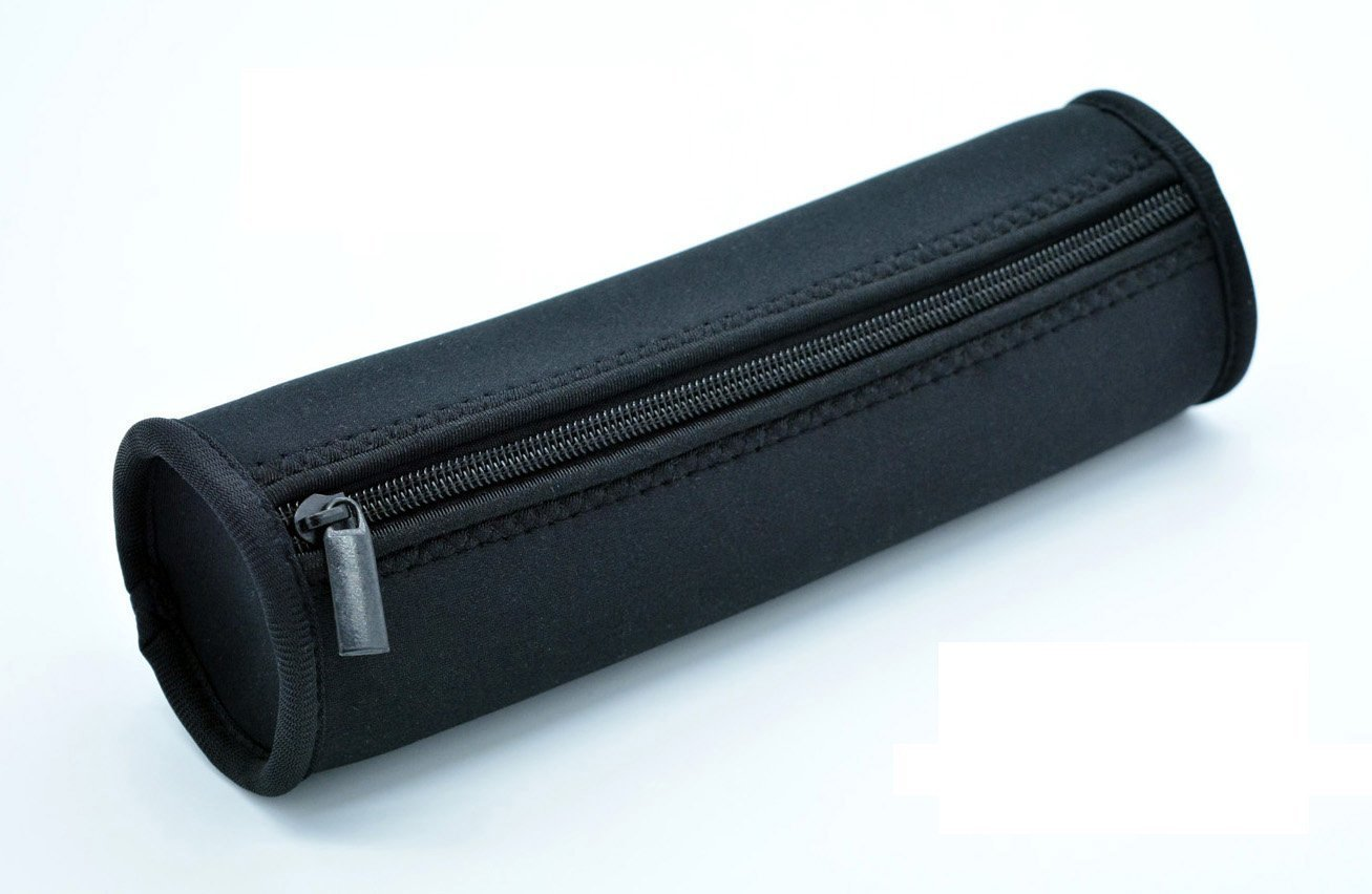 Pencil Case & Pen Case Multi-Functional Stationery Pouch Zipper Bag Washable and Durable (Oval Black)