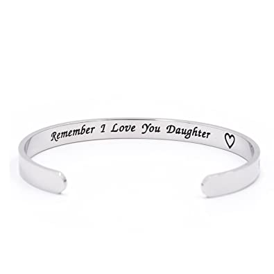 The Love Between Mother and Daughter Knows No Distance Remember I Love You Daughter Cuff Bracelet EpCLLN