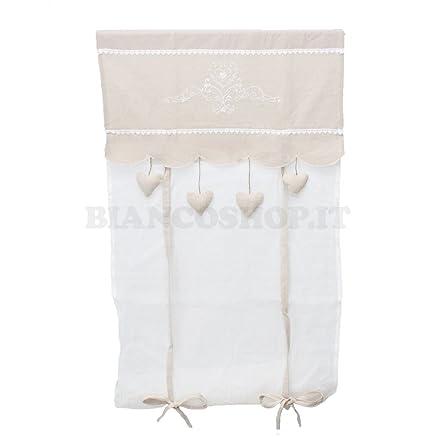 Coppia di tende da finestra Shabby Chic - Julie 60x150 cm: Amazon ...