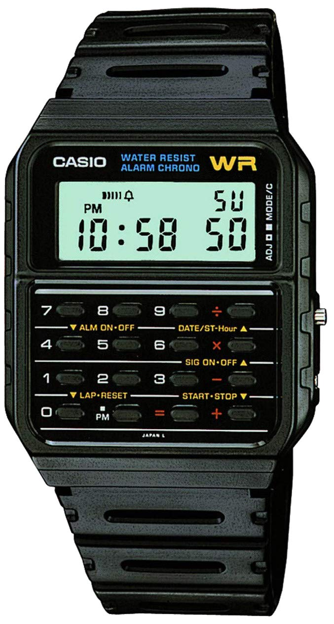 Casio Men's Vintage CA53W-1 Calculator Watch by Casio