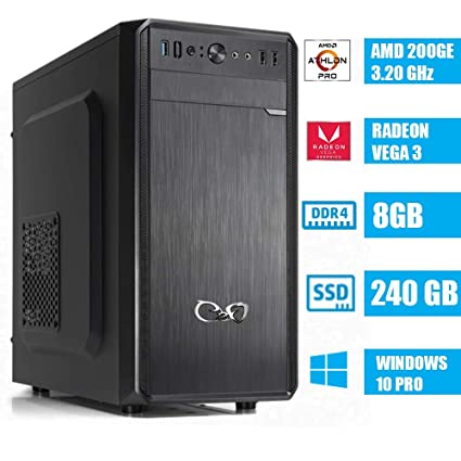 CEO Alpha V2 - Ordenador DE SOMBREMESA AMD 200GE 3.20GHz 4MB ...