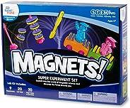 hand2mind MAGNETS! Super Science Kit for Kids (Ages 8+) - Build 9 STEM Experiments & Activity Set | Make Magnets Float, Move