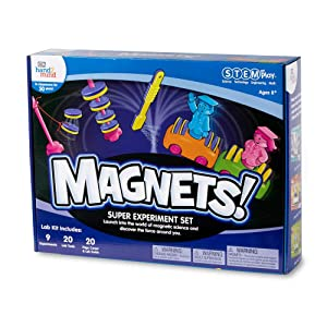 hand2mind MAGNETS! Super Science Kit for Kids (Ages 8+) - Build 9 STEM Experiments & Activity Set   Make Magnets Float, Move a Train, and Build a Compass   Educational Toys   STEM Authenticated