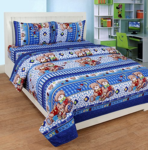 Zesture Bring Home 3D Double Bedsheet with two pillow covers-(230 x230 cms , Multicolor)