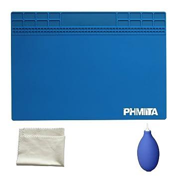 PHIMIITA Estera de Soldadura de MAT Silicone Solder Mat Magnetic Project Working Pad (35x25, dark blue): Amazon.es: Hogar