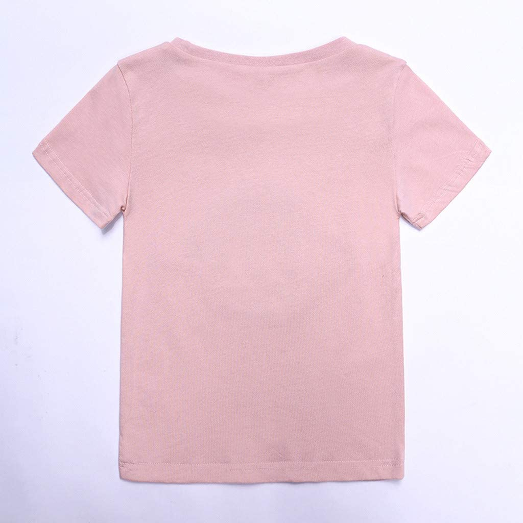 TIANRUN Boys Girl Reversal Sequins Short Sleeve T-Shirt Kids Cotton Magic Sequin Change Color Tees Tops