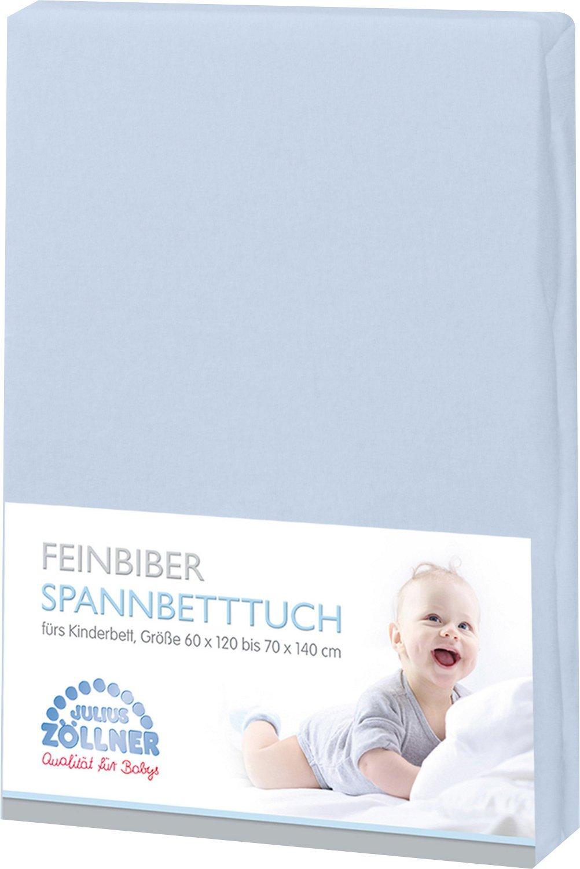 Zö llner Spannbetttuch Feinbiber 70X140 cm hellblau Julius Zöllner