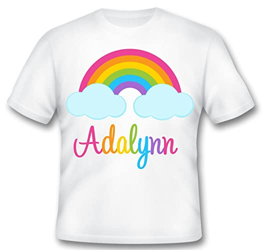 Personalized Rainbow Birthday Shirt