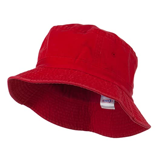 07bef932d73 Cameo Pigment Dyed Bucket Hat-Red at Amazon Women s Clothing store  Bucket  Hat Mens