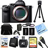 Sony a7S II Full-frame Mirrorless Interchangeable Lens Camera 64GB Bundle includes a7S II Body, 64GB Memory Card, Wallet, Reader, Bag, Beach Camera Cloth, 62mm Filter Kit, Batteries, Charger and More