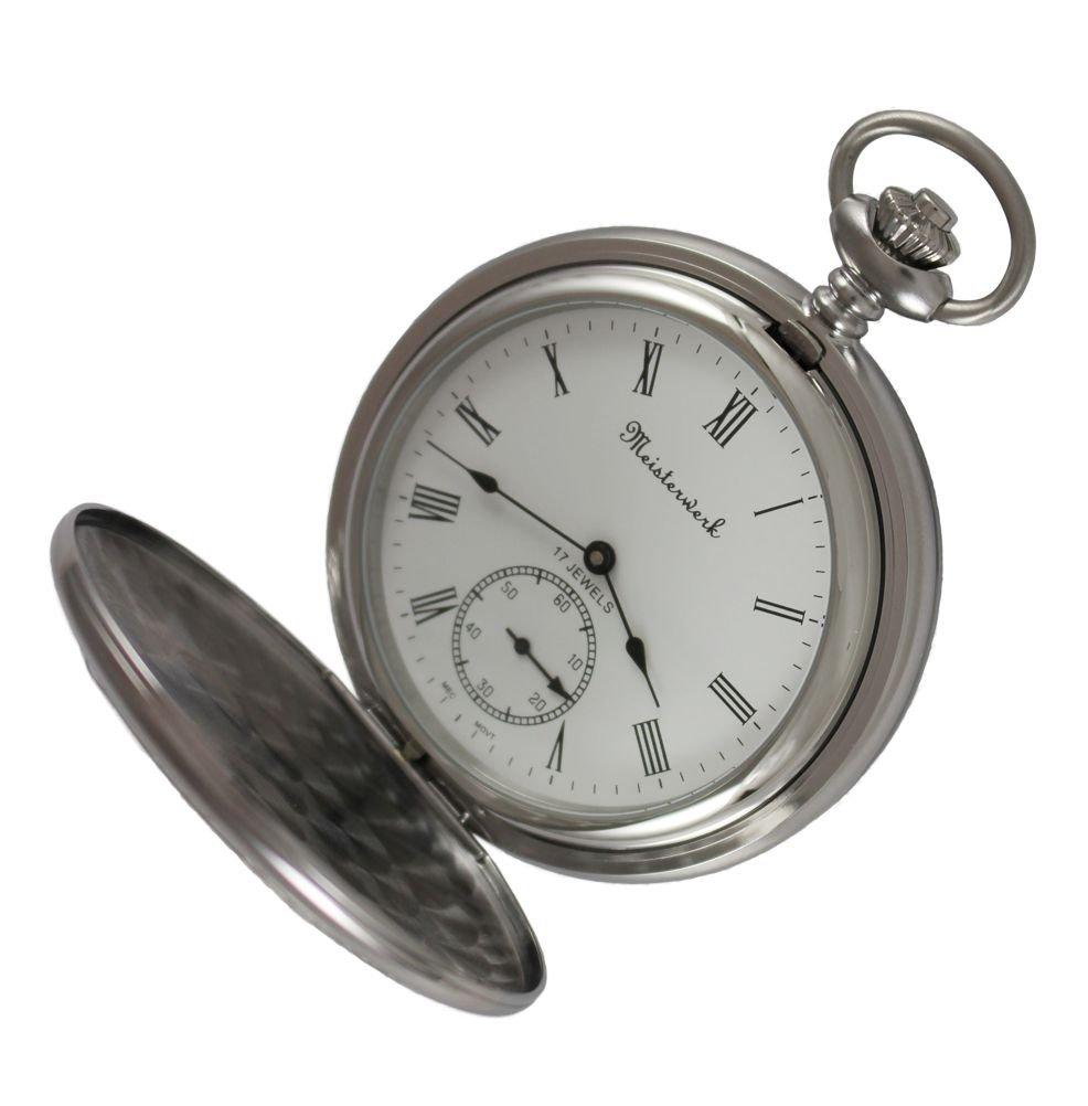 Personalized Meisterwerk Mechanical Stainless Steel Pocket Watch M1881